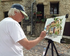 Tony-painting-in-Vaison-2013-300x240